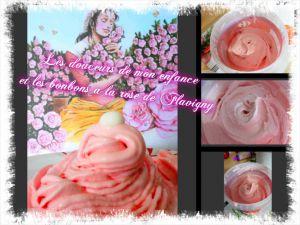 Recette Glace à la rose avec les bonbons à la rose de Flavigny