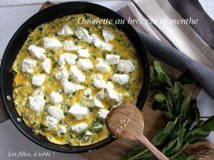 Recette Omelette au brocciu et à la menthe