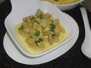 Recette Curry de poulet mariné au riz/ Cuisine Indienne