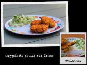 Recette Nuggets de poulet aux épices indiennes