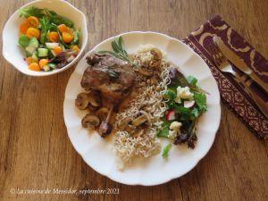 Recette Cuisses de canard confites, sauce d'inspiration orientale +
