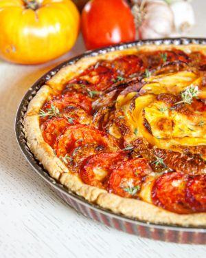 Recette Ma tarte tomate mozza
