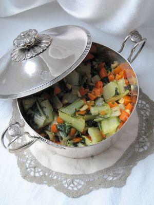Recette Poêlée de blettes & de carottes à l'ail