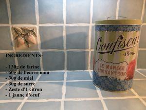 Recette Sablés au miel et au citron