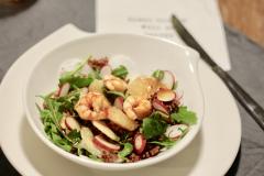 Recette Salade de gambas, daïkon, radis rose et riz sauvage