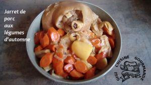 Recette Jarret de porc aux legumes d'automne (cookéo)