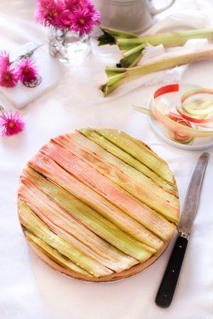 Recette Recette de la tarte à la rhubarbe de Philippe Conticini