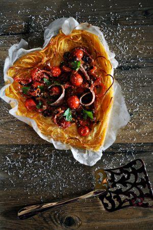 Recette Frittata de spaghetti puttanesca