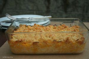 Recette Crumble de courge butternut dernière recette de cucurbitacée de la saison :)