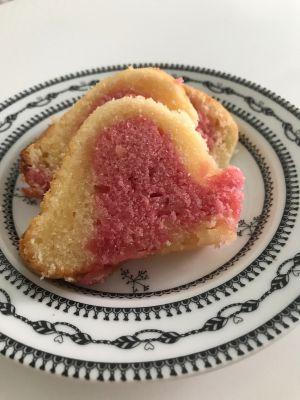 Recette Cake marbré arôme fraise