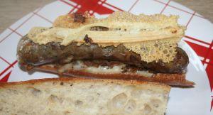 Recette Sandwich, hot dog à l'andouillette de canard à la plancha