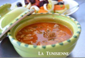 Recette Chorba tunisienne aux langues d'oiseau – Lsen asfour